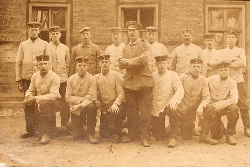 1. Weltkrieg, familie, gruppenfoto, Soldaten, Truppe