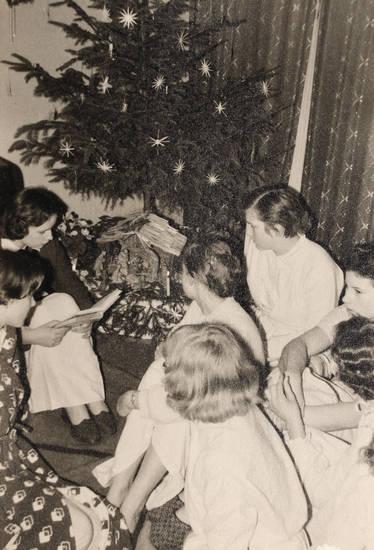 feier, kinder, Tannenbaum, Weihnachten, Weihnachtsbaum, winter
