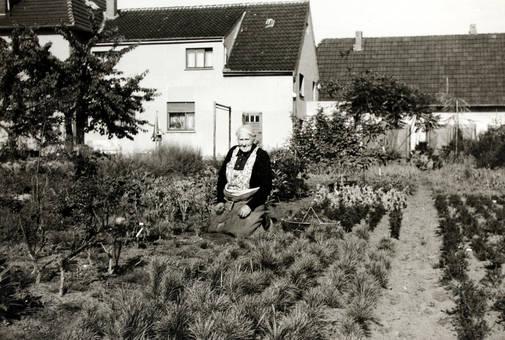 Ur-Oma im Garten