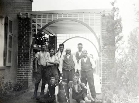 Handwerker-Gruppenfoto