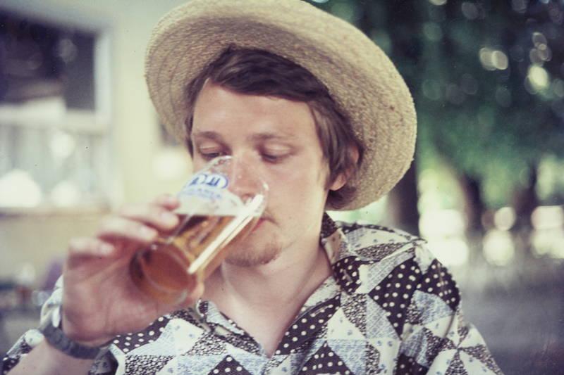 alkohol, Bier, durst, Glas, hut, mode, Sommer