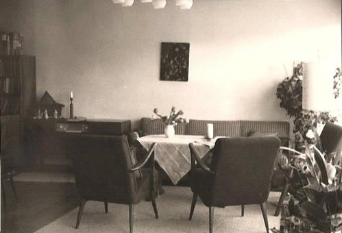 Das Wohnzimmer 1968.