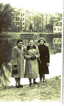 Drei Schwestern am See