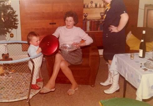 Weihnachten 1971 im Laufstall