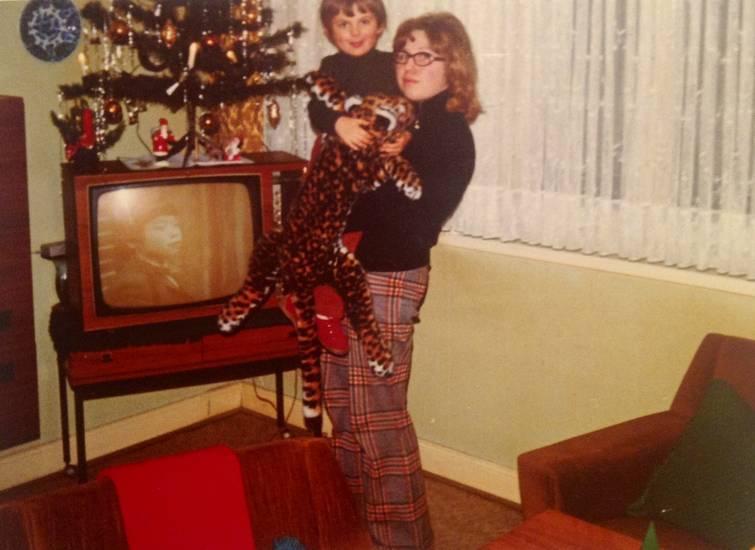 Bescherung, Fernseher, geschenke, Plüschtier, Tannenbaum, Weihnachten, Weihnachtsbaum