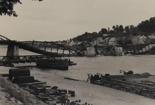 Gesprengte Memelbrücke