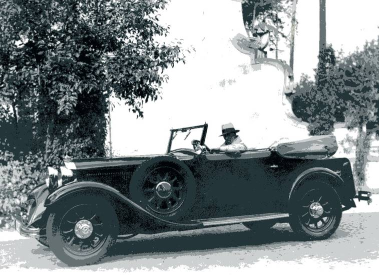 auto, Cabriolet, hut, KFZ, Mercedes-Benz, Mercedes-Benz-500, Mercedes-Benz-Nürburg, Mercedes-Benz-W08, Oldtimer, PKW
