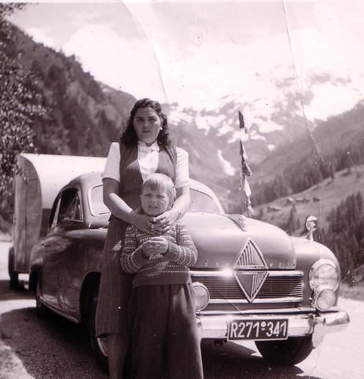 Alpen, auto, Borgward, KFZ, mode, PKW, Wohnwagen, Zusatzscheinwerfer