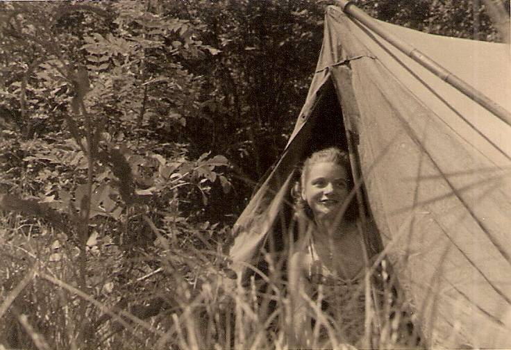 camping, Sommer, zelt