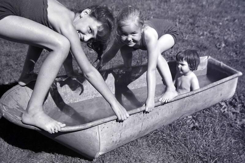 baden, Sommer, wanne