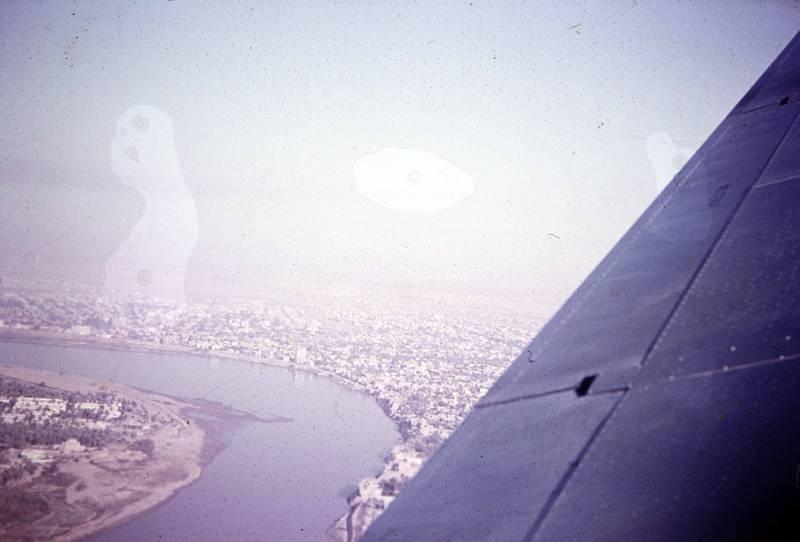 Flügel, Fluß, Irak, Luftaufnahme, Tragfläche