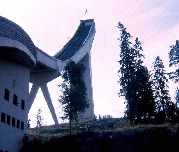 Architektur, schanze, Ski, sport
