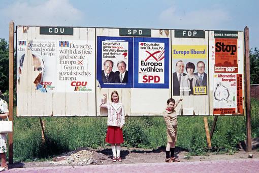 Plakate der Europawahl