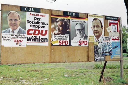 Plakate der Bundestagswahl