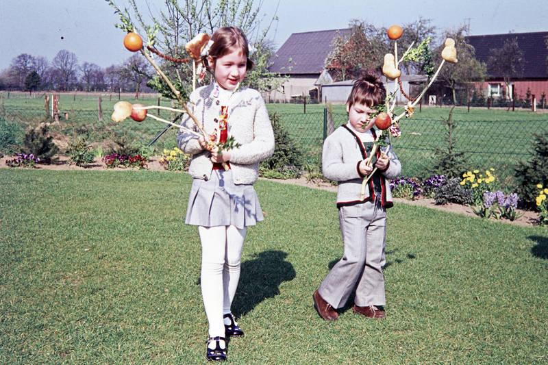 Blume, Ei, Frühling, Kindheit, Ostern, Palmsonntag, palmstock, schmuck, Sonne, Spaß, Stock, weidenstock