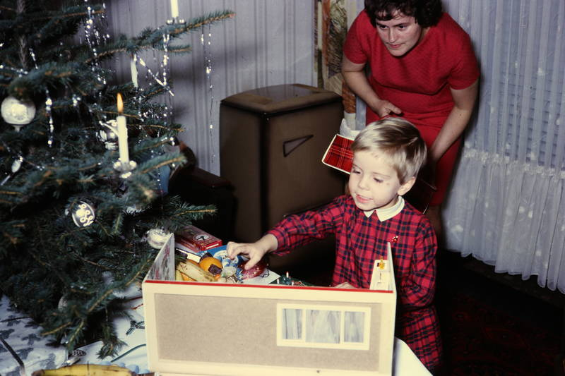 geschenk, Heiligabend, Kerze, Lametta, Weihnachtsbaum