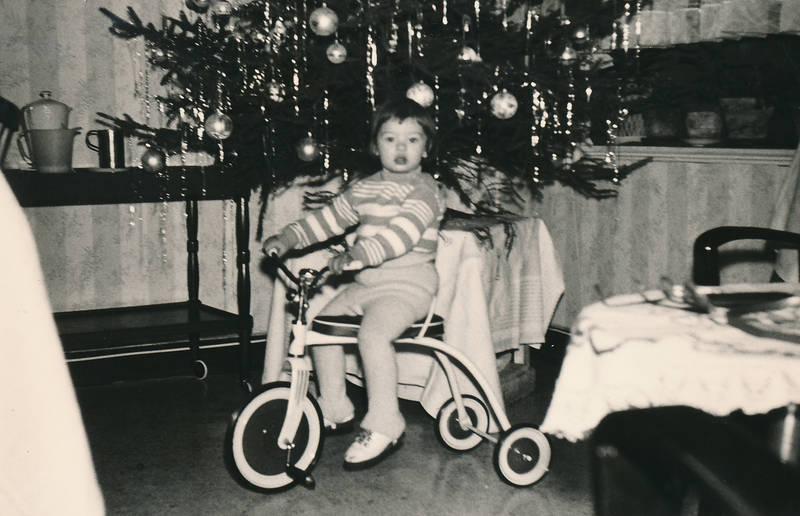 Dreirad, geschenke, kind, Tannenbaum, Weihnachten