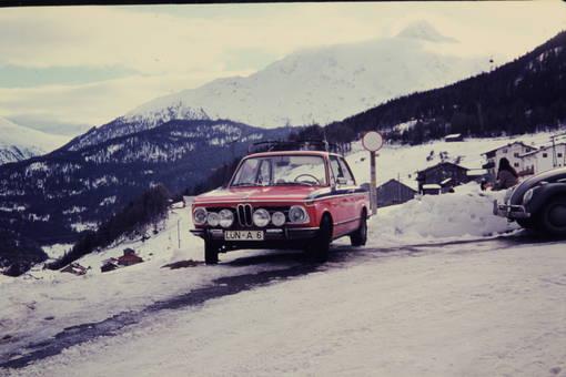 Mit dem BMW in den Bergen