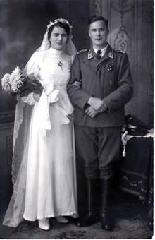Hochzeitsfoto der Eltern