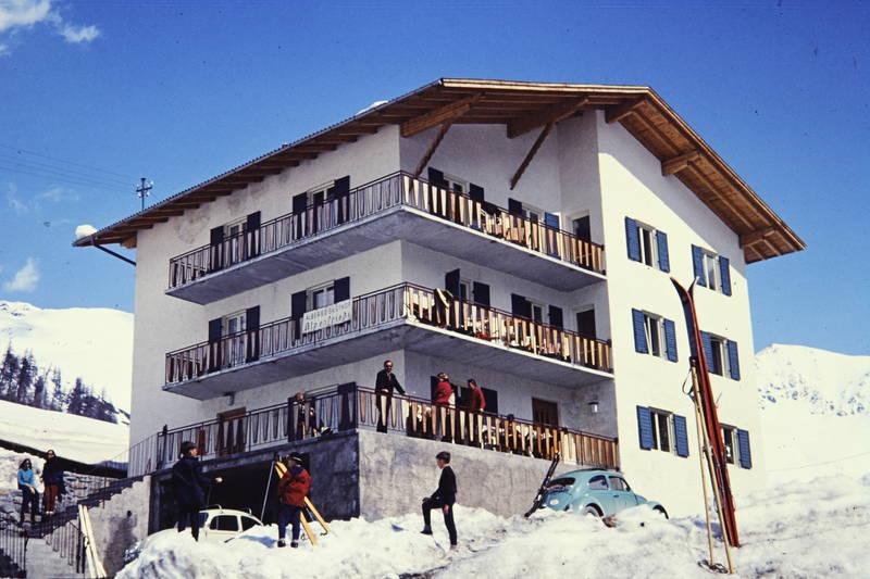Berge, haus, schnee, Ski, skiurlaub, unterkunft