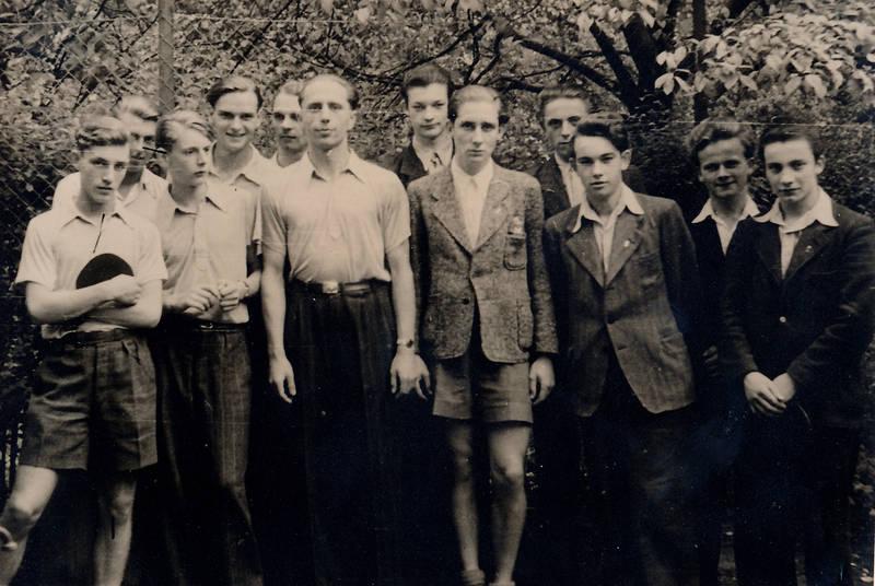 gruppenfoto, Jugendliche, kleidung, mode