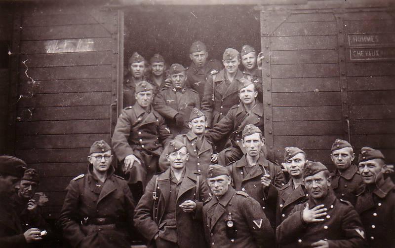 2. Weltkrieg, Eisenbahn, Güterzug, Soldaten, Uniform, Wehrmacht