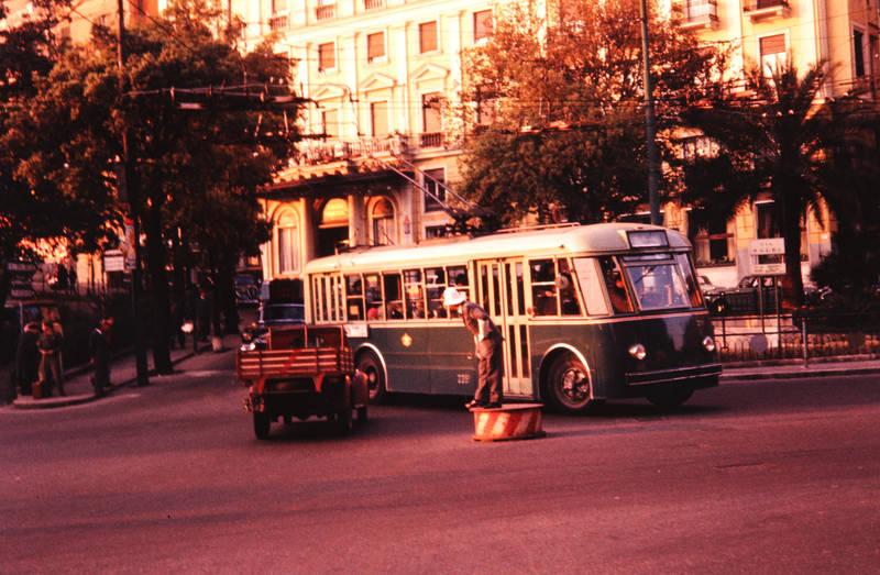 alltag, bus, Kleintransporter, verkehr, verkehrspolizist