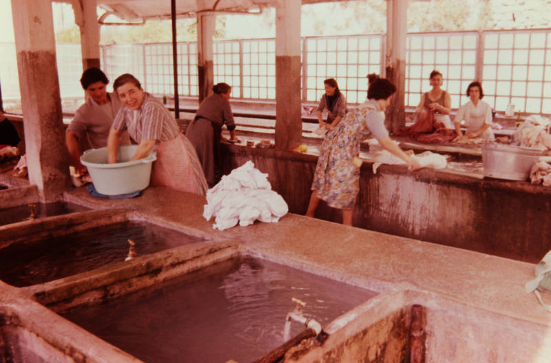 Arbeitswelt, Frauen, kleidung, Waschbecken, wäsche, wasser