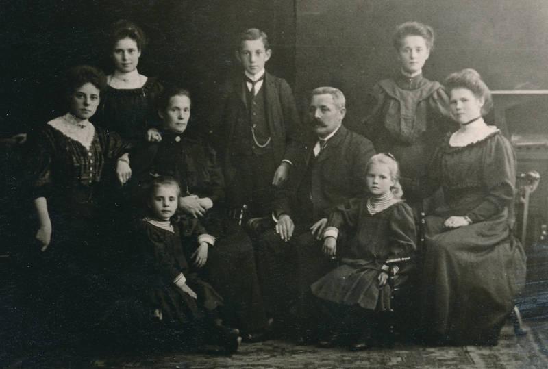 familie, familienfoto, mode