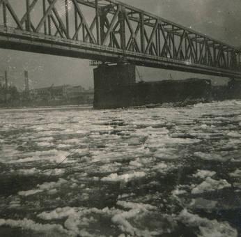 Eisschicht auf dem Rhein 1929