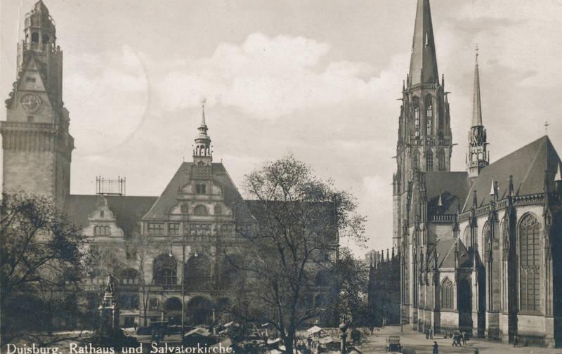kirche, Rathaus, salvatorkirche, stadtkarte