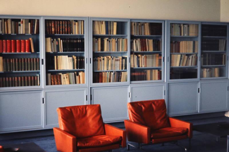 Bücher, einrichtung, regale, sessel