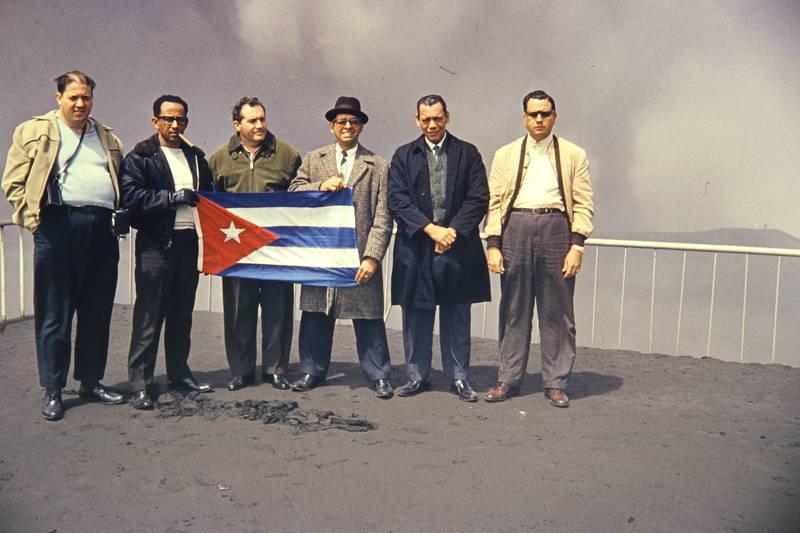 flagge, gruppenfoto, Kuba, Männer, mode