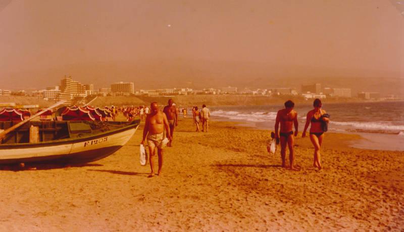 boot, gran canaria, meer, strand, strandszene