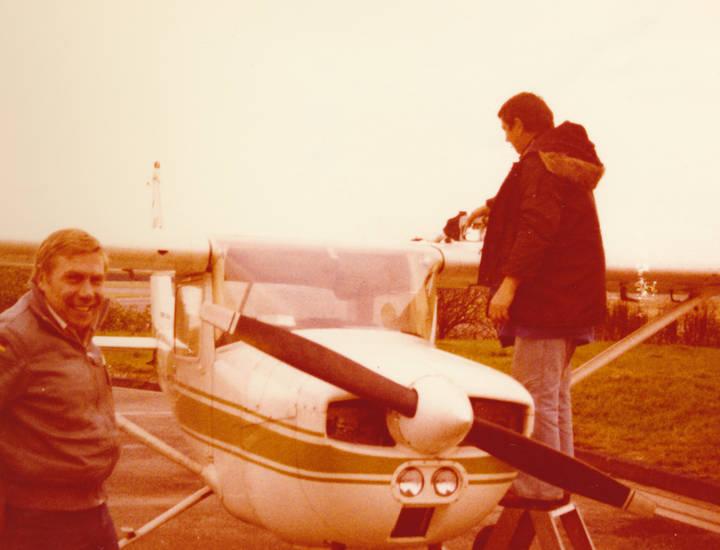 Flugschein, flugzeug, Propellermaschine