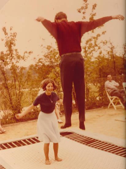 Sprung, trampolin