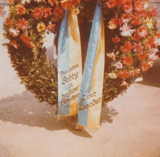 Blume, gedenkkranz, kranz