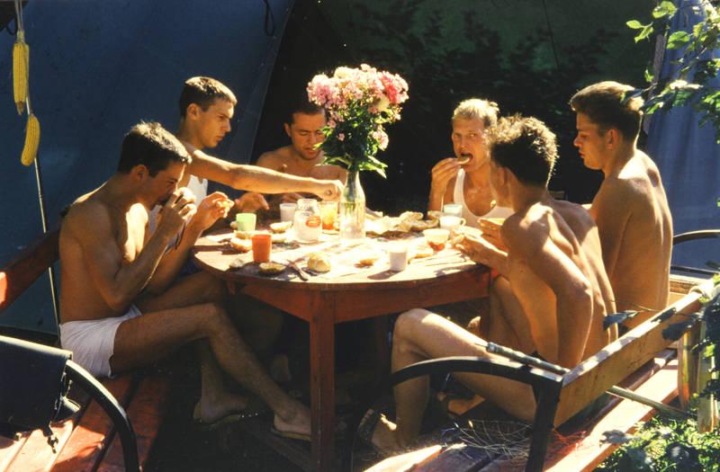 blumen, camping, essen, frühstück, zelten