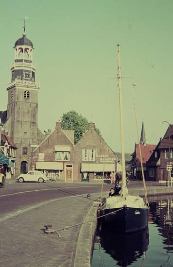 boot, Hafen, kirche, niederlande