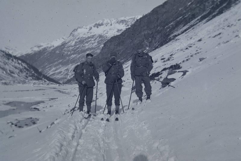 Bekleidung, Gebirge, Gebirgsjäger, mode, schnee, Ski, skistöcke, Soldaten, Uniform, Wehrmacht, winter