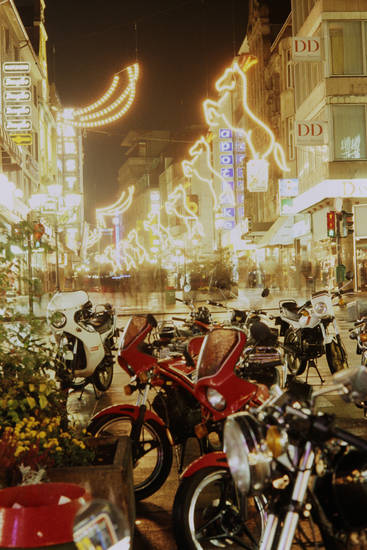Deko, KFZ, Lichterkette, Motorrad, Weihnachten, weihnachtsdekoration