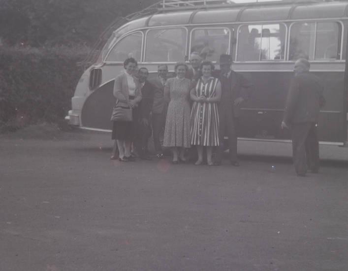 bus, gruppenfoto, KFZ, kleid, PKW