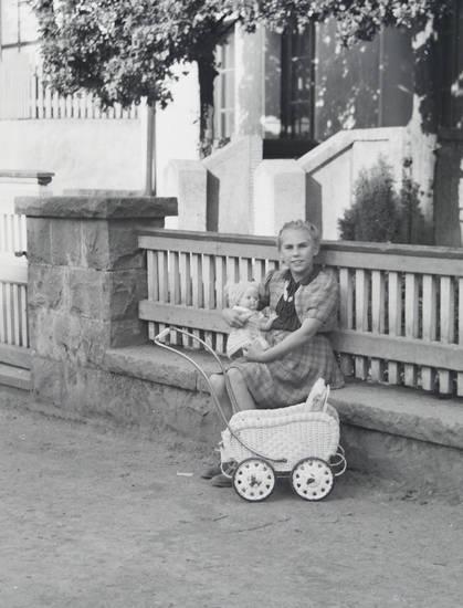 Kindheit, puppe, Puppenwagen, Spielzeug