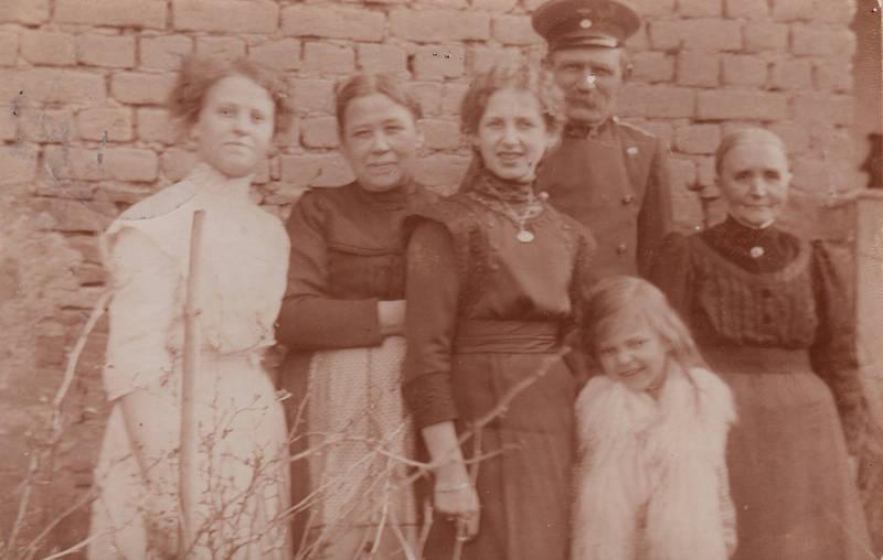 1913, familienfoto, geburtstagskarte