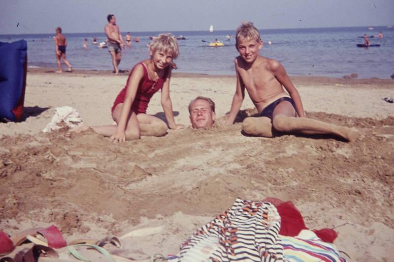 badeanzug, bademode, Buddeln, Kindheit, sand, strand