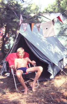 Im Campingstuhl