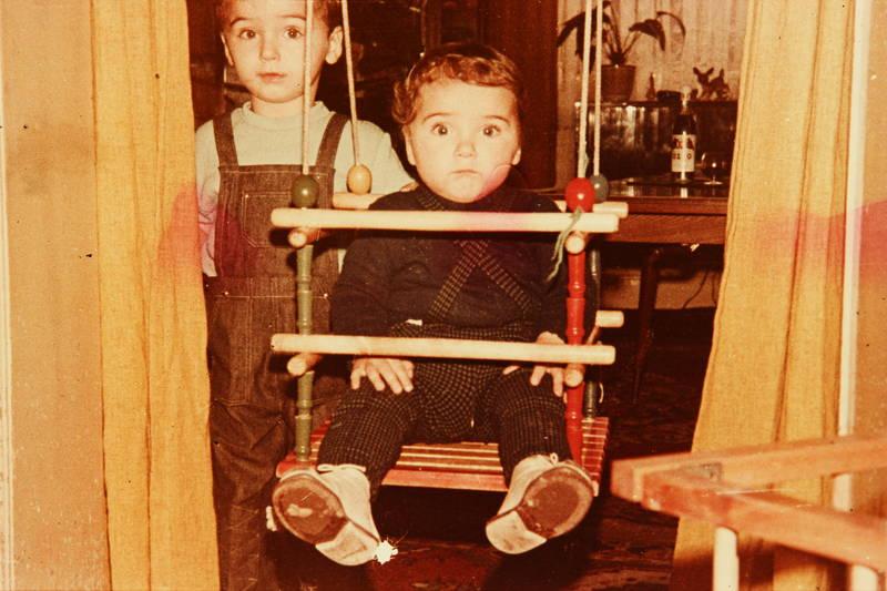 Kindheit, kleinkind, schaukel