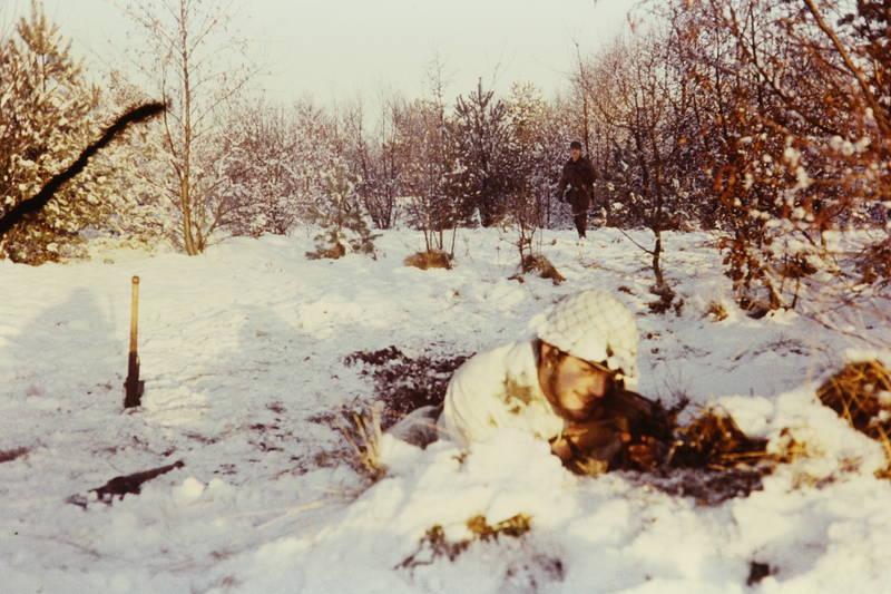 Bundeswehr, Gewehr, schnee, soldat, Übung, wald, winter