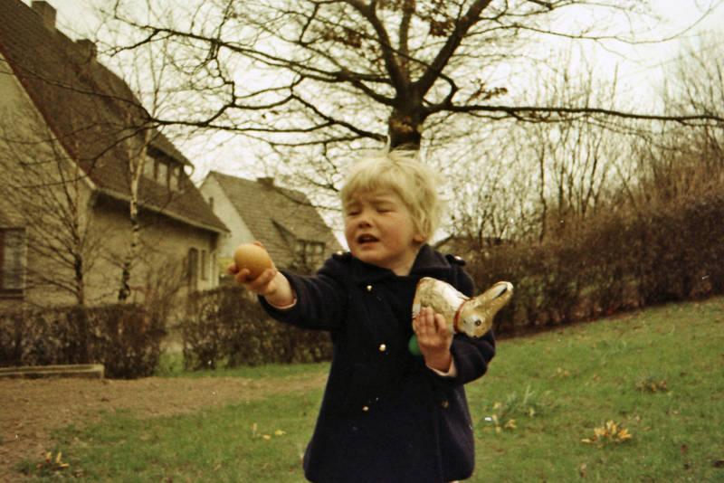 Kindheit, osterei, Ostern, Schokohase
