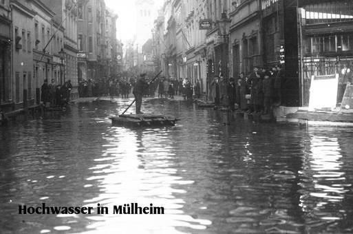 Hochwasser in Mülheim/ Rhein